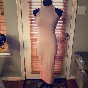 Bodycon pink dress